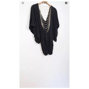 Sky black chain back dress